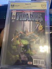 Thanos #15 1st Print CBCS 9.8 Fallen One Silver Surfer Frank Castle signed