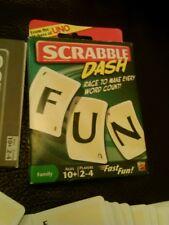 Scrabble Dash Card Game by Mattel - Travel Scrabble Cards sealed card decks