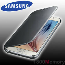 Genuine Samsung Galaxy S6 Clear View Case Cover Silver