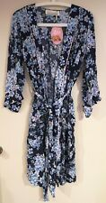 Peter Alexander Women's Blue Blossom Dressing Gown Size Large, New with tags.