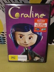 Coraline - DVD Region 4 PAL. RARE OOP PURPLE FRONT COVER. AUSSIE SELLER