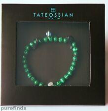 TATEOSSIAN LONDON MALACHITE EVIL EYE SILVER 925 BRACELET Size M 17.5 cm, BNIB