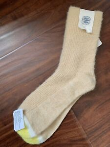NEW Free People Boot Socks One Size Beige Gold Ivory