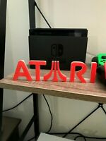 Atari video game Logo sign 3d printed 8in! videogame