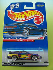 Hot Wheels 1999 New Editions PORSCHE 911 GT3 CUP #10/26 Mattel Wheels New In Pkt