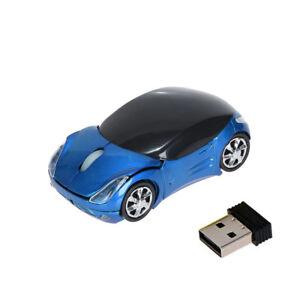 Optical 2.4GHz 1200DPI Car Shape Wireless Mouse USB Scroll Mice Tablet Laptop