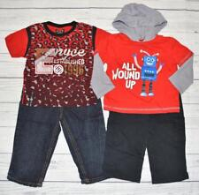 Infant Boy 12m 18m 2pc Outfit LOT KIDGETS Robot Hoodie Pants ENYCE Shirt Jeans