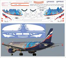 1/144 PAS-DECALS. ZVEZDA. AIRBUS A320 SOCHI 2014 AEROFLOT