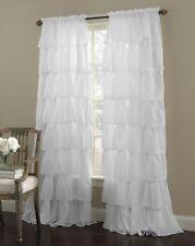 2 Piece Gypsy Ruffled Window Curtain Treatment Panel Drapes