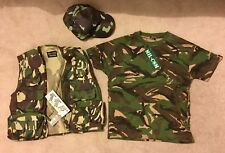 Camo Camping Hunting Clothes large adults 8-9 year old child's kids tac vest hat