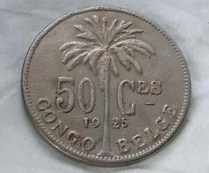 50 Centimes 1925 Congo Belgique