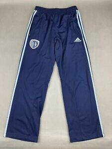 Adidas Sporting Kc Blue Athletic Soccer Pants Climacool Mens Small