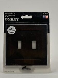 Somerset Double Toggle Contemporary Wall Plate 662675 Oil-Rubbed Bronze