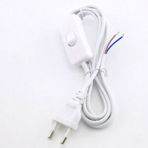 1.8M AC Power Supply Cable Cord Wire Lead DIY on/off switch For led light bulb