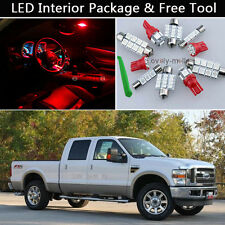 8PCS Blubs RED LED Interior Light Package kit Fit 1999-2010 Ford Super Duty J1