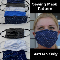 PATTERN ONLY face mask sewing pattern with filter pocket PATTERN ONLY
