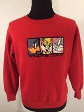 VTG Space Jam Sweatshirt Sz M Jordan Looney Tunes Warner Brothers Rare 1996
