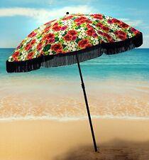 "Rose Inspired Cute Beach Umbrella 100%UV 60""round by beachBRELLA® Fun!"