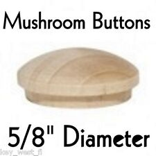 """5/8"""" inch Maple Mushroom Buttons ~ Wood Screw Plugs ~ Lot of 12 to 500"""