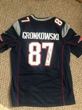 Rob Gronkowski Signed BLUE New England Patriots  Jersey BAS Beckett COA - LARGE