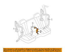 GM OEM Front Seat Belt-Buckle 12477768