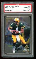1997 SP AUTHENTIC #87 Brett Favre PSA 10!!! HOF Green Bay Packers *CLASSIC SET*