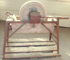 schleifstein schleifbock alt antik metall sandstein schleif bock transmission