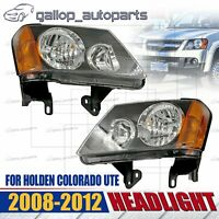 NEW HEADLIGHT HEAD LAMP (PAIR) for HOLDEN COLORADO RC 2008 - 2012 LEFT + RIGHT