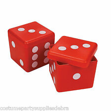 6 x 50's Hard Dice Party Favour Boxes...Rock n Roll...Fifties...Birthday...Deco