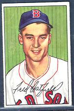 1952 Bowman #153 Fred Hatfield Boston Red Sox VG-EX Plus