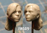 "FH024 Custom Cast Sculpt part Female head cast for use with 3.75/"" action figures"