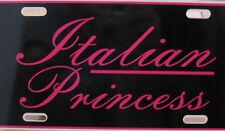Duramax Powerstroke dodge car truck License plate tag logo Italian PRINCESS PINK