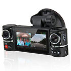 "2.7"" TFT LCD Dual Camera Rotated Lens Car DVR Vehicle Video Recorder Dash Cam"