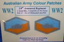 2ND AIF WW2 AUSSIE ARMY COLOUR PATCHES NON INFANTRY