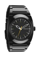 AUTHENTIC NIXON DON WATCH ALL BLACK/ORANGE A358 577 NEW IN BOX! A358577