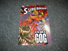 DC Comics Superman In the Name of Gog TPB BRAND NEW