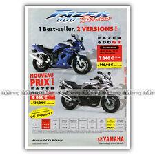 PUB YAMAHA FAZER 600 & FAZER 600 GT - Ad / Publicité Moto de 2003