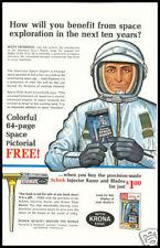 1963 vintage ad for Schick Injector Razor Blades