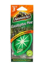 Armorall 3 Pack Hanging Car Home Air Freshener Freshner Scent - EUCALYPTUS PINE