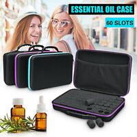 60 Bottles 15ml Essential Oil Travel Case Holder Storage Aromatherapy Bag