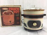 Vintage ~ Rival - Crock Pot - 3100 - Almond - Slow Cooker 3.5 Qt. -w/box
