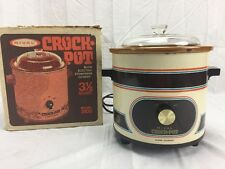 Vintage ~ Rival - Crock Pot - 3100 - Almond - Slow Cooker 3.5 Qt. -w/box