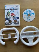 Mario Kart Wii & 2 Steering Wheels - Nintendo Wii Game