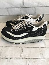 SKECHERS Shape Ups Shoes WOMENS Black White ATHLETIC Walking 9