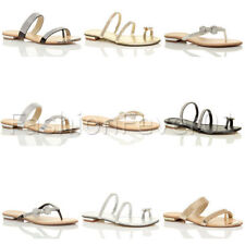 "Unbranded Women's Strappy Flat (less than 0.5"") Sandals & Beach Shoes"
