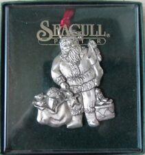 Vtg Seagull Pewter Nova Scotia Christmas Tree Ornament Santa Claus Toys