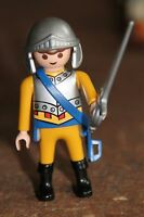 Personnage PLAYMOBIL - HOMME château fort chevalier casque épée moyen age guerre