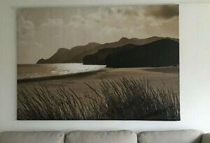 IKEA Premiar SEA GRASS Ocean Headlands Beach WALL ART Print w Frame CANVAS Zoom