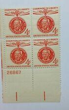 Us Sc0Tt 1174-1961 4 Cent Mahatma Gandhi-Orange-Plate Block Of 4-Mint/Nh/Og-