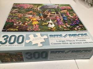 300 piece jigsaw puzzle by bits and pieces, large piece puzzle, wishing well